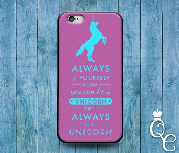 iPhone 4 4s 5 5s 5c SE 6 6s 7 plus iPod Touch 4th 5th 6th Gen Cool Purple Unicorn Funny Word Quote Case Cute Custom Funny Girl Phone Cover