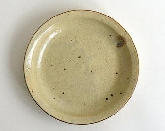 Kohiki Rice Bran Glaze Rim Plate (8 in)/ Takashi Sogo (15005507-N7)