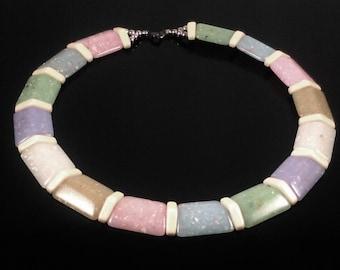 Vintage Acrylic Necklace, Acrylic Necklace, Vintage Necklace, Wedding Necklace, Retro Necklace, Vintage Choker
