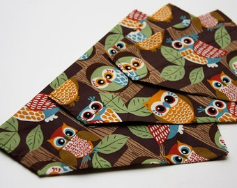 Woodland Owls Fall Dog Bandana