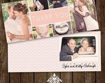 Printable Custom Wedding Thank You Card