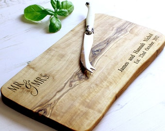 Mr & Mrs Rustic Chopping / Cutting / Cheese Board - Available in five sizes
