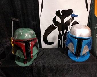 Custom mando helm painted