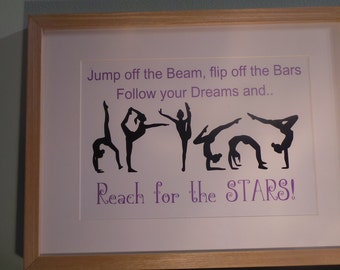 Gymnastics Framed print -  Reach for the stars