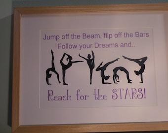 Gymnastics Framed print -  Reach for the stars
