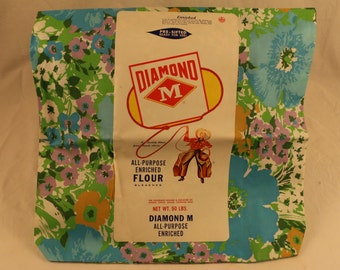 Vintage feedsack, new with label