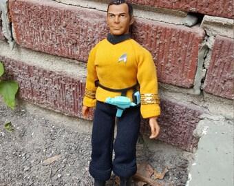 "Star Trek Captain Kirk 8"" Action Figure Vintage 1974 Mego 1970s"
