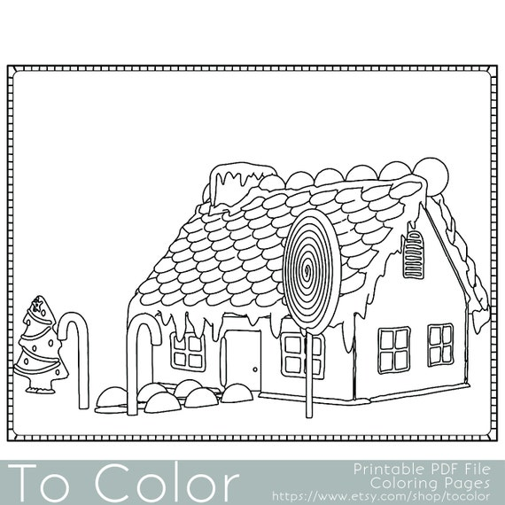 Items Similar To Christmas Coloring Page For Adults