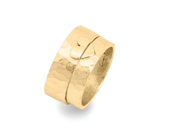 Gold Cuore Wedding Ring