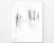 Black and White Photography, Black and White Print, Minimalist Print, Winter Decor, Landscape Print, Printable wall art, Modern Minimal, Art