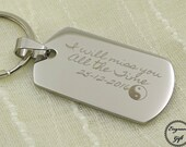 Laser TextEngrave Stainless Steel Charms Necklace Tag KeyChain, Initial, Love Notes, Free Advise, Ditigtal Proof, Medium