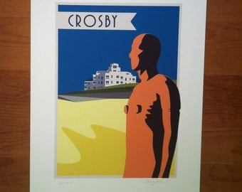 Another Place, Crosby Iron Man, Crosby, Iron man, Iron men, Liverpool, The Jones Boys, Liverpool prints, Antony Gormley
