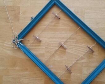 Clothespin Clip Picture Frame- Mini Clip Frame-Mini Clip and Twine Picture Display