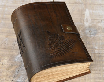 Dark Brown Leather Journal, Handbound Journal