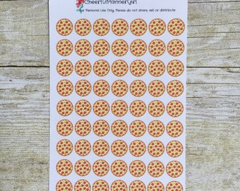 Pizza Planner Stickers Half Inch bx39