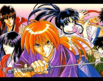 "Rurouni Kenshin Anime Poster  8.5"" x 11"" - 11"" x 17"" - 13"" x 19"""