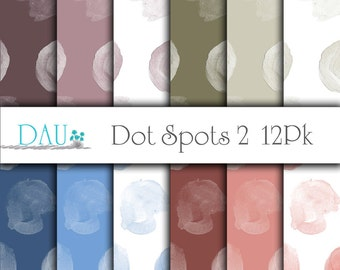 12 Pack Instant Digital Download Large Polka Dots Paper 12 x 12 300DPI Backgrounds Scrapbook Card Design Party Favors Product Packaging