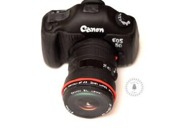 Fondant Camera Canon / Nikon/ DSLR Cake Topper