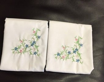 Set of two standard pillowcases.