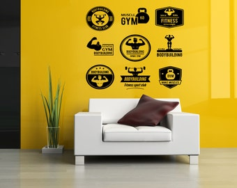 Removable Vinyl Sticker Mural Decal Wall Decor Poster Art Crossfit Bodybuilding Fitness Center Sport Gym Lift