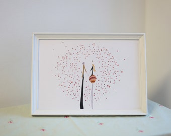 The kiss Framed Illustration