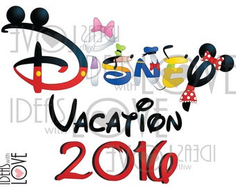 INSTANT DOWNLOAD DIY Disney World Family Vacation Inspired Disney 2016 Printable Iron On Digital Image