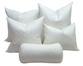 Down Pillows, Pillow Inserts, Down Pillows, Feather Down Pillow Insert 16x16 Plump full Extra Plump Hypo allergenic