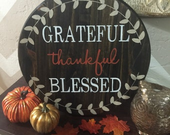 Thanksgiving Fall Wood Sign