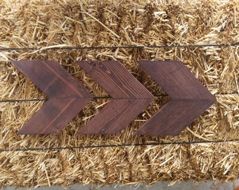 Stained Chevron Wood Arrows