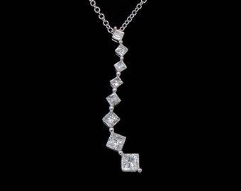 ESTATE EFFY 0.5ct Diamond Journey Pendant in 14 Karat White Gold