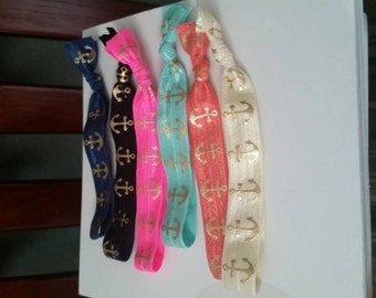 Anchor hair ties