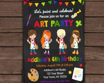 Painting Pottery  Invitation / Birthday Invitation / Printable