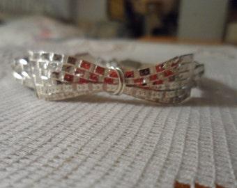 Vintage .925 Silver Bow Tie Bracelet