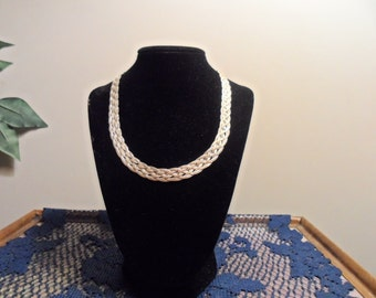 Vintage .925 Silver Weave Necklace