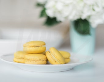 Yellow Macaroons | Spring Styled Stock Photo/ Information Mockup for Blogs, Websites & Social Media
