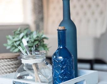 Nautical Blue Vases | Square Format Stock Image
