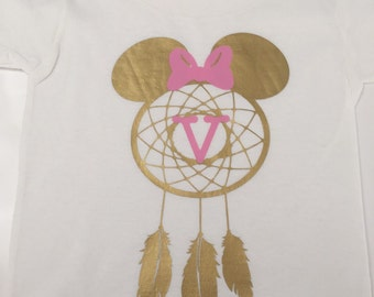 Minnie shirt, dream catcher minnie, custom minnie shirt, disney shirt, disney world shirt, disneyland shirt