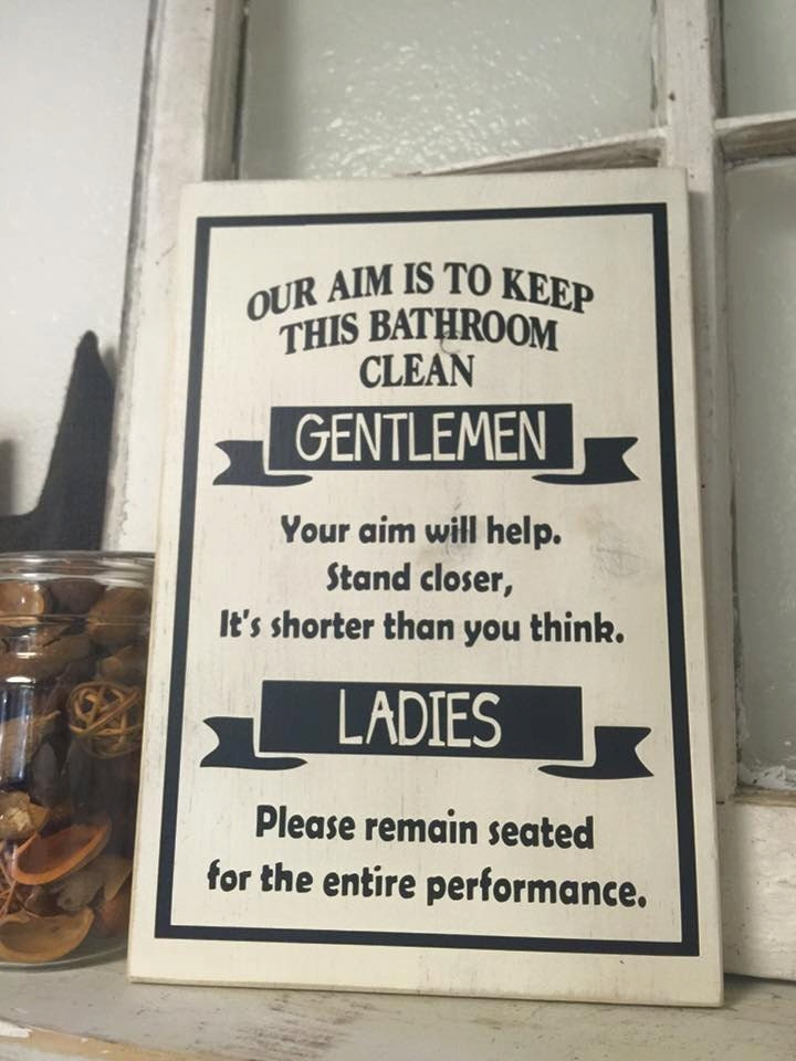 Our aim is to keep this bathroom clean gentlemen ladies How to keep the bathroom clean