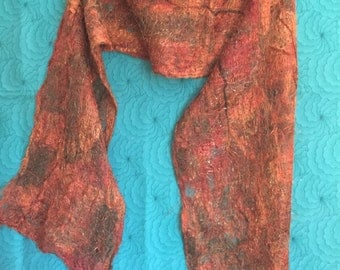 Silk Fibers Fall Colors Scarf