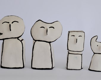 small ceramic creatures