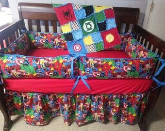 Baby bedding; Super Hero Crib Set; Marvel Crib Set