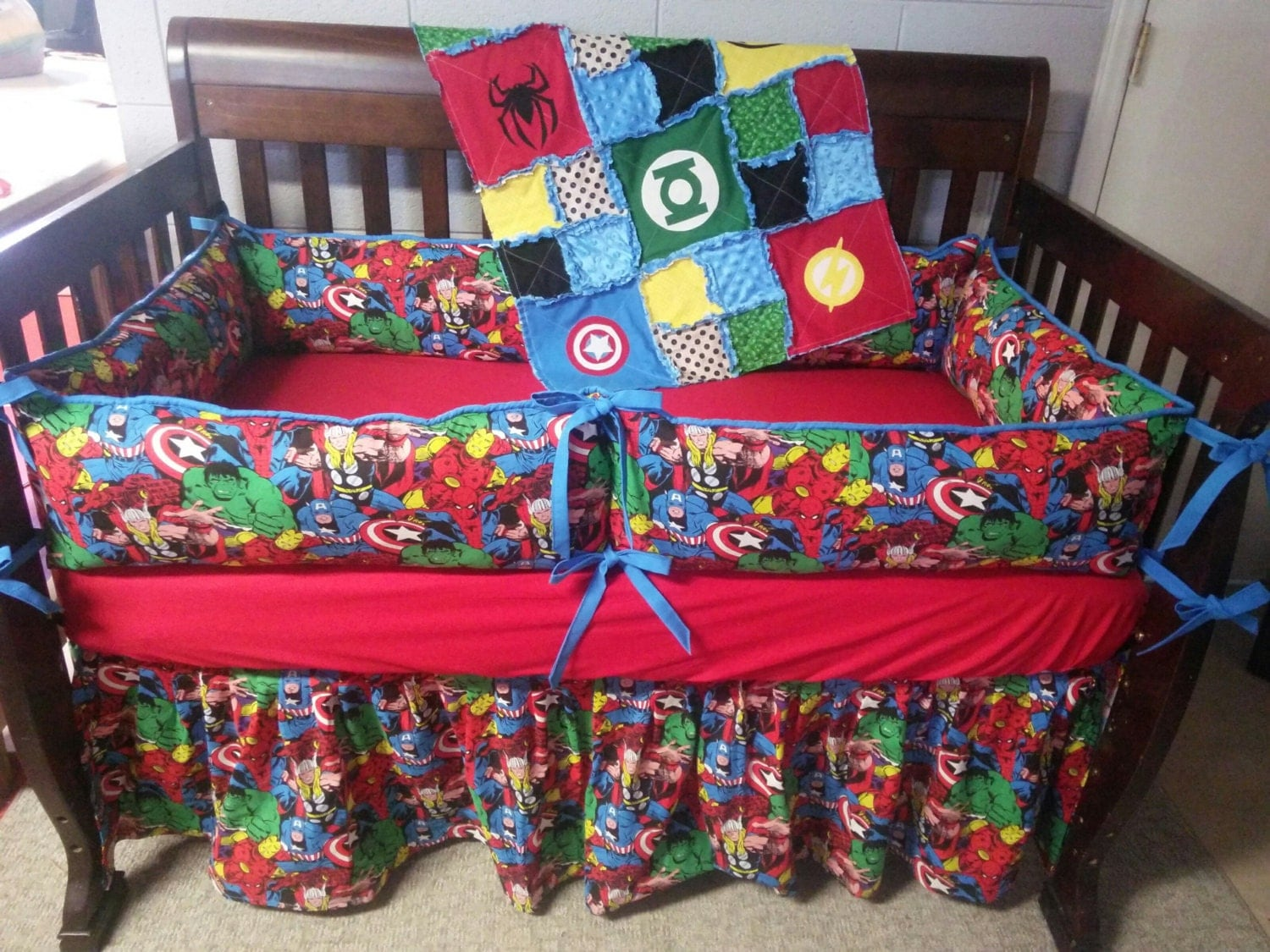 Custom Baby Bedding Super Hero Crib Set Marvel Crib Set