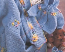 Baby Rings Layette Crochet Pattern Fingering And Sport Weight Yarns Boys Girls -   PDF Download