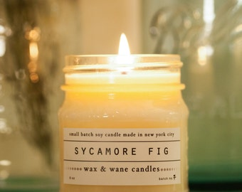 Sycamore Fig Candle - Scented Soy Candle