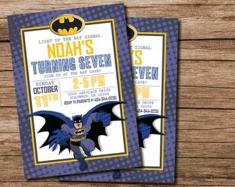 Batman Birthday Invitation, Batman Birthday Party, Batman Invitation, Batman Party, Printable Batman Invitation, 250422100