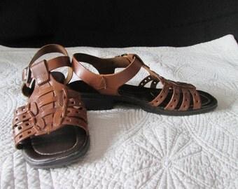 Vintage sandal Roman leather woman
