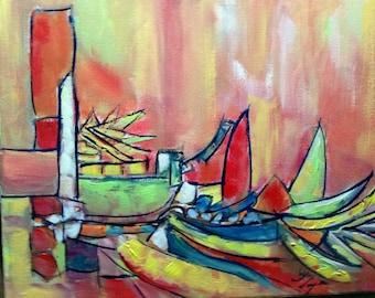 Carib Boat Dock or Cactus of Colors