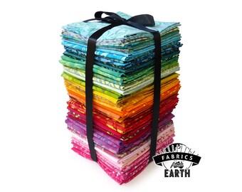 Full Spectrum Rainbow Batik 54 Fat Quarter MEGA Bundle - Quilting Fabric