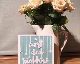 Wedding / Anniversary / Valentines Papercut Card