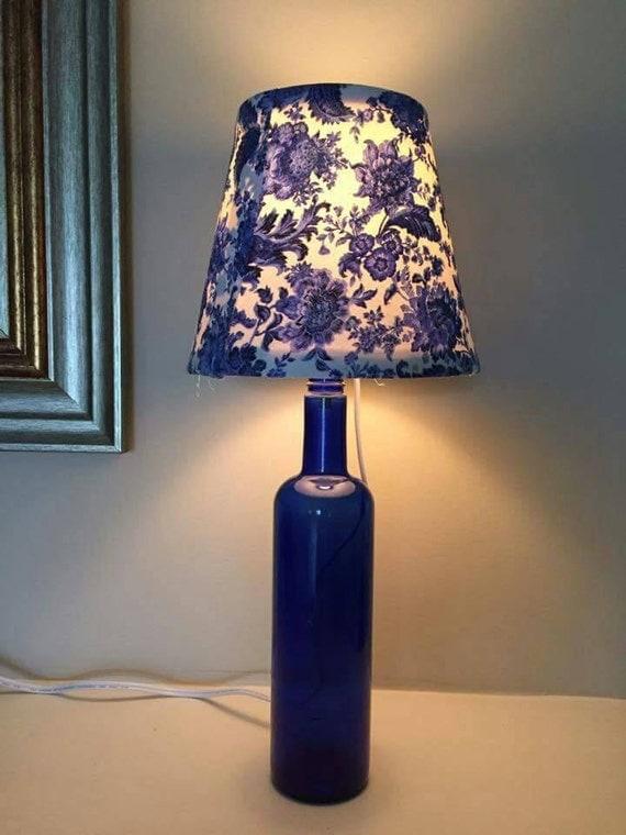 wine bottle light wine bottle lamp cobalt by. Black Bedroom Furniture Sets. Home Design Ideas